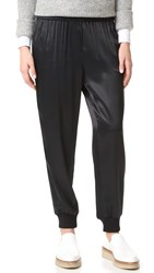 Dkny Pull On Pants With Ribbed Cuffs Black
