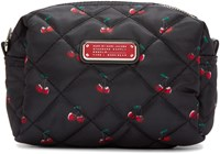 Marc By Marc Jacobs Black Printed Large Crosby Cosmetics Case