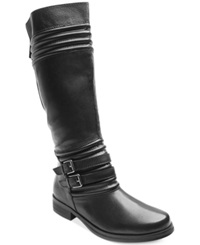 Two Lips Jelled Tall Boots Women's Shoes Black
