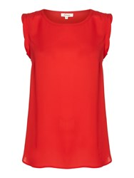 Linea Woven Shell Top Red