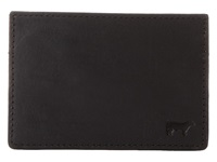 Will Leather Goods Sampson Slim Card Case Black Credit Card Wallet