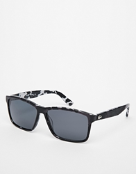 Lacoste Wayfarer Polarised Sunglasses Black