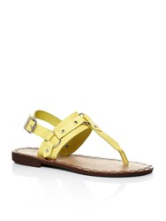 Moda In Pelle Morga Studded Flat Sandals Yellow