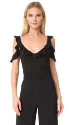 Cushnie Et Ochs Cold Shoulder Top Black