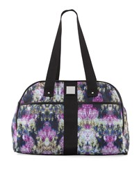 Nicole Miller City Life Printed Yoga Duffle Bag Canopy Black