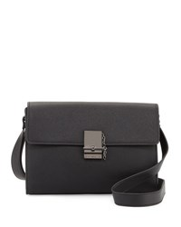 French Connection Glory Faux Leather Crossbody Bag Black