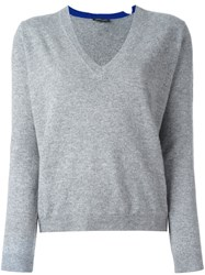 Twin Set V Neck Pullover Grey