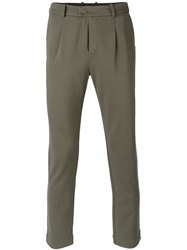 Paolo Pecora Slim Fit Trousers Green