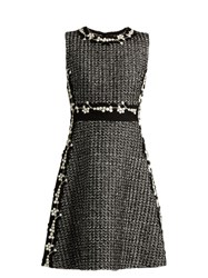 Giambattista Valli Lace Panelled Cotton Blend Dress Black Multi
