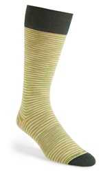 Hook Albert Stripe Socks Green