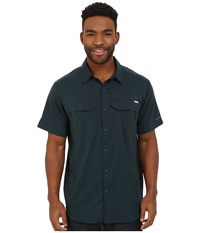 Columbia Silver Ridge Lite Short Sleeve Shirt Night Shadow Men's Short Sleeve Button Up Navy