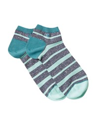 White Stuff Fleck Stripe Ankle Sock Blue