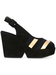 Sonia Rykiel Wedge Sandals Black