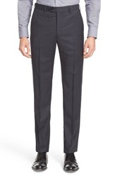 Armani Collezioni Men's Flat Front Check Wool Trousers
