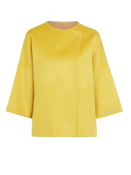 Marella Parure Reversible Wool Cashmere Coat Yellow