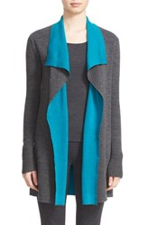 St. John Women's Collection Wool Reversible Waterfall Cardigan