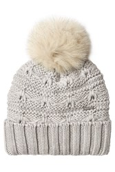 Woolrich Wool Hat With Pom Pom Grey