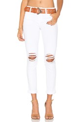 Joe's Jeans Danika Play Dirty Stay Spotless The Markie Crop Optic White Distressed