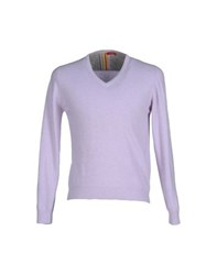 Altea Knitwear Jumpers Men Lilac