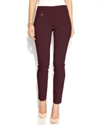 Alfani Tummy Control Skinny Pants Only At Macy's New Wine