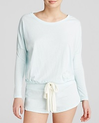 Eberjey Heather Slouchy Drawstring Tee Sky