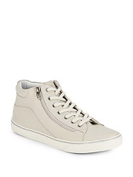 Gold And Gravy Leather High Top Sneakers Clay