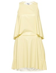 Svek Yellow Vinyl Tank Dress