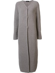 Calvin Klein Collection Ribbed Cardi Coat Nude And Neutrals