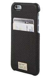Hex 'Solo' Iphone 6 And 6S Wallet Case Black Black Woven Leather