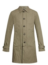 John Varvatos Button Down Cotton Blend Trench Coat Grey