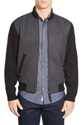 Original Penguin Two Tone Wool Blend Bomber Jacket Dark Charcoal