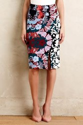 Maeve Shinjuku Blooms Pencil Skirt Blue Motif