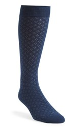 Men's The Tie Bar 'Speckled' Socks Blue Navy