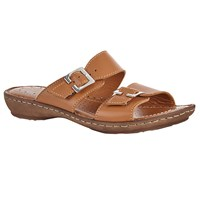 John Lewis Two Strap Sandals Tan