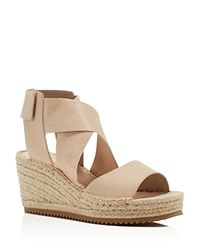 Eileen Fisher Willow Espadrille Platform Wedge Sandals Desert