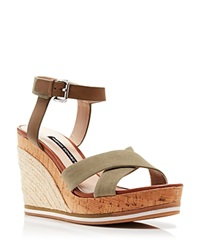 French Connection Platform Wedge Espadrille Sandals Lata
