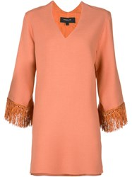 Derek Lam Fringed Cuff Tunic Yellow And Orange