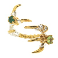 Tessa Metcalfe Grasp Claws With Emerald And Peridot Green
