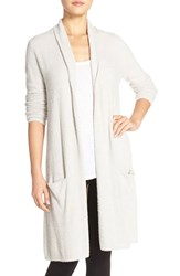 Women's Barefoot Dreams 'Chic Lite' Long Cardigan Grey