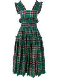Molly Goddard Tartan Sarah Dress Green