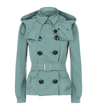 Burberry Risebrooke Trench Jacket Female Mint