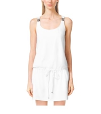Michael Kors Embellished Cover Up White