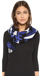Theodora And Callum Squaw Valley Scarf Blue Multi