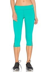 Trina Turk Strapped Solids Mid Length Leggings Green