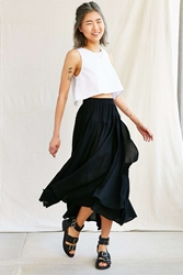 Urban Renewal Remade Gathered Maxi Skirt Black
