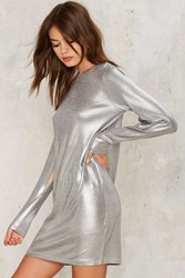 Cheap Monday Sound Metallic Dress Silver