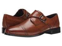 Nunn Bush Newton Cap Toe Monk Strap Cognac Men's Monkstrap Shoes Tan