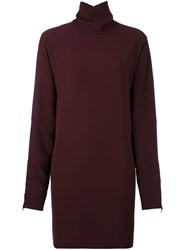 Mcq By Alexander Mcqueen High Neck Shift Dress Pink And Purple