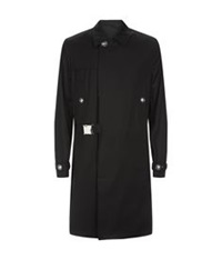 Versus By Versace Show Trench Parka Black
