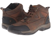 Ariat Terrain Wide Square Steel Toe Distressed Brown Men's Work Boots